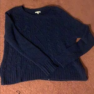 Navy blue oversized sweater